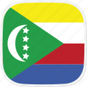 comoros, flag, km icon