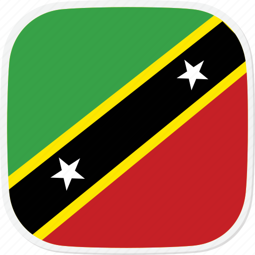 and, flag, kitts, kn, nevis, saint icon