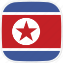 flag, korea, north, kp