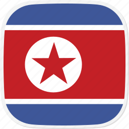 flag, korea, kp, north icon