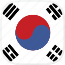 flag, korea, kr, south icon