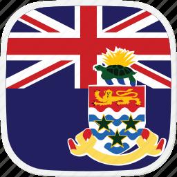 cayman, flag, islands, ky icon