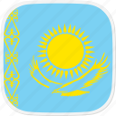 flag, kazakhstan, kz icon