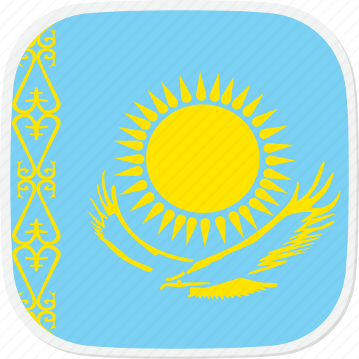 flag, kazakhstan, kz icon