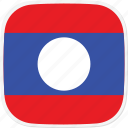 flag, la, laos icon