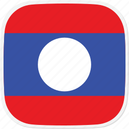 flag, la, laos icon