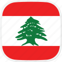 flag, lb, lebanon icon