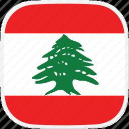 flag, lb, lebanon icon