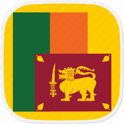 flag, lanka, lk, sri icon