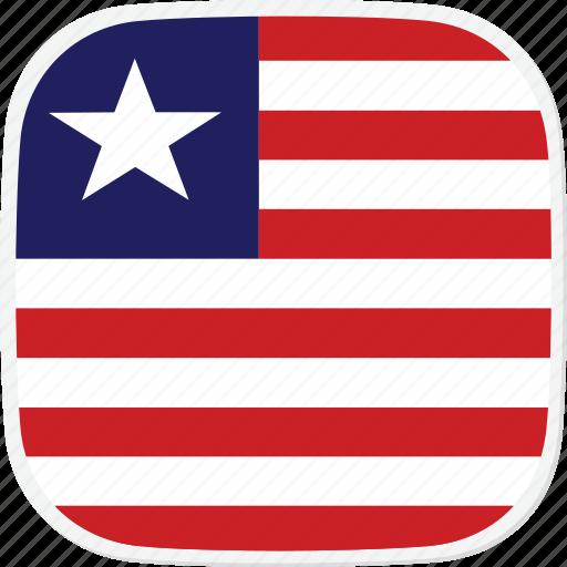 flag, liberia, lr icon