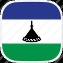 flag, lesotho, ls icon