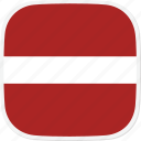 flag, latvia, lv icon