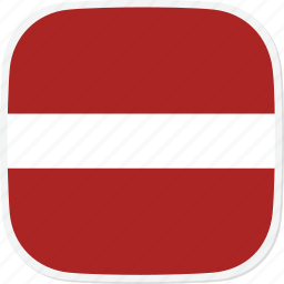 flag, latvia, lv icon