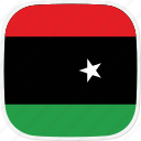 flag, libya, ly icon