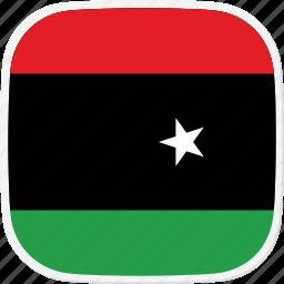 flag, libya, ly icon