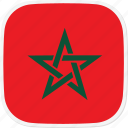 flag, ma, morocco icon