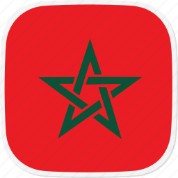 flag, ma, morocco icon