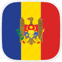 flag, md, moldova icon