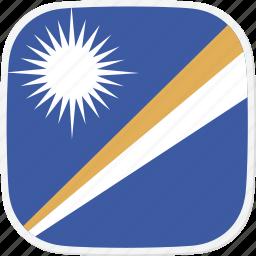 flag, islands, marshall, mh icon
