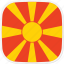 flag, macedonia, mk icon