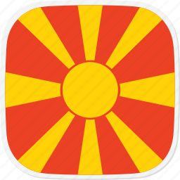 flag, macedonia, mk icon