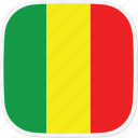flag, mali, ml icon