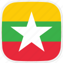burma, flag, mm icon