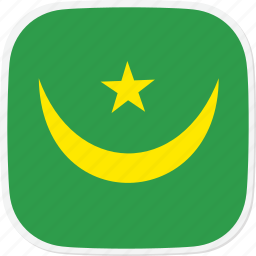 flag, mauritania, mr icon