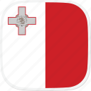 flag, malta, mt icon