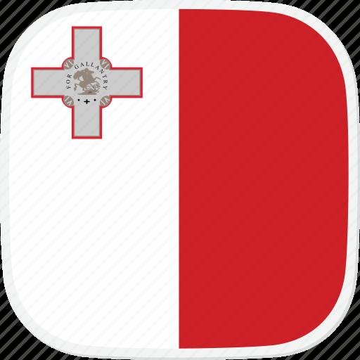 flag, malta, mt icon