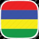 flag, mauritius, mu icon