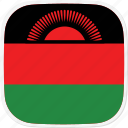 flag, malawi, mw icon