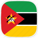 flag, mozambique, mz icon