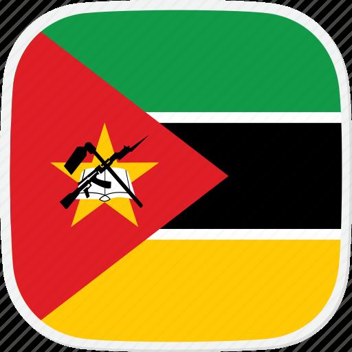 flag, mozambique, mz icon