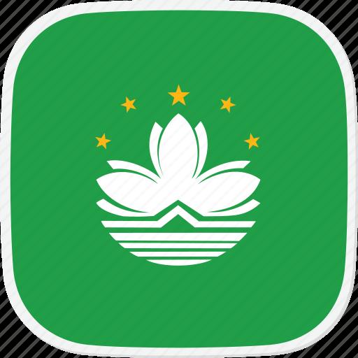 flag, macua, mo icon