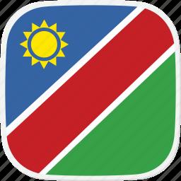 flag, na, namibia icon