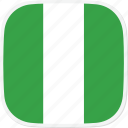 flag, ng, nigeria icon