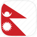 flag, nepal, np icon
