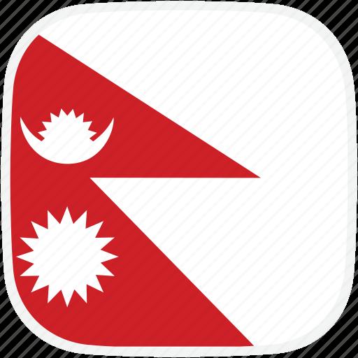 flag, nepal, np icon