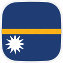 flag, nauru, nr icon