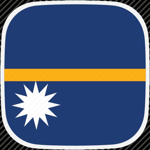 flag, nauru, nr icon