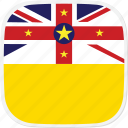 flag, niue, nu icon