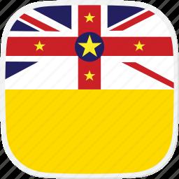 flag, niue, nu icon