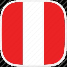 flag, pe, peru icon