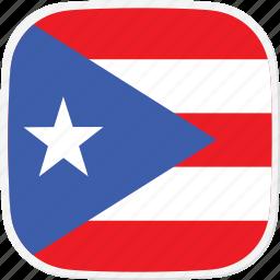 flag, pr, puerto, rico icon
