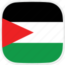 flag, gaza, ps, strip icon