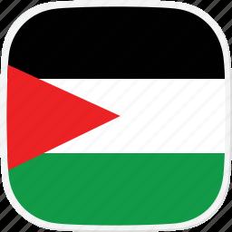 flag, gaza, ps, strip icon