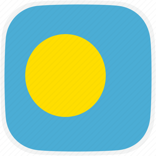 flag, palau, pw icon