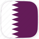 flag, qa, qatar icon