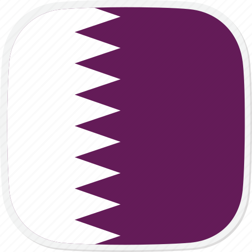 Qa, flag, qatar icon
